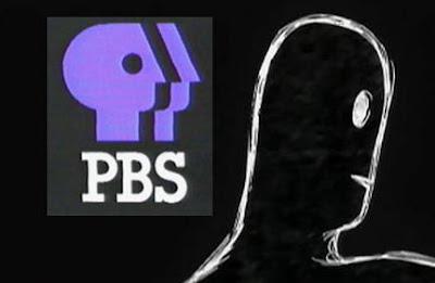 Gurren-Lagann episode 26: PBS logo plus Anti-Spiral figure