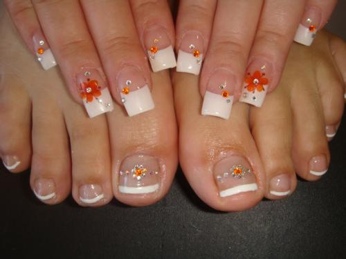 Fotos de uñas decoradas de los pies - Imagui