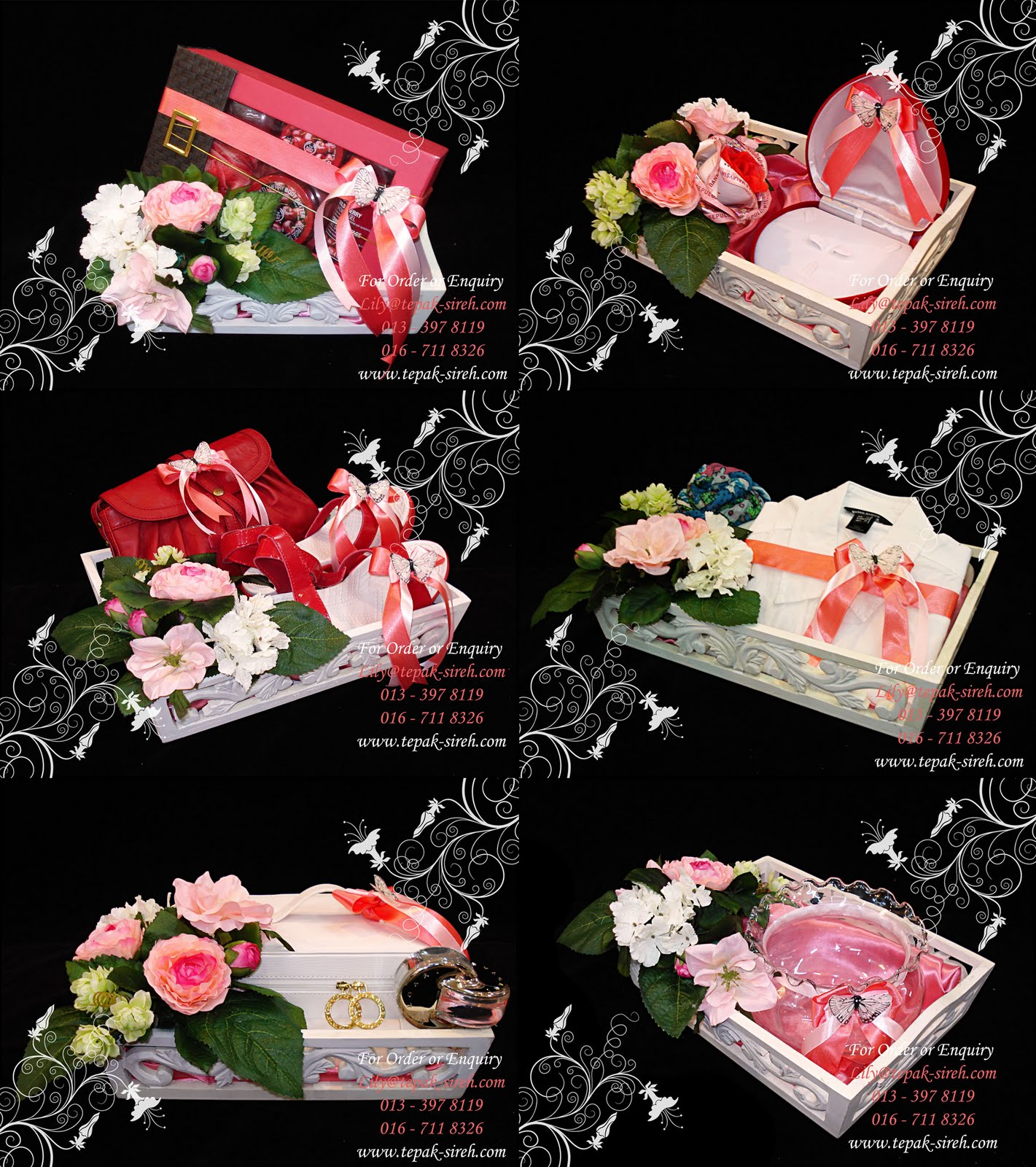 Gubahan Hantaran in Peach, Pink and Red