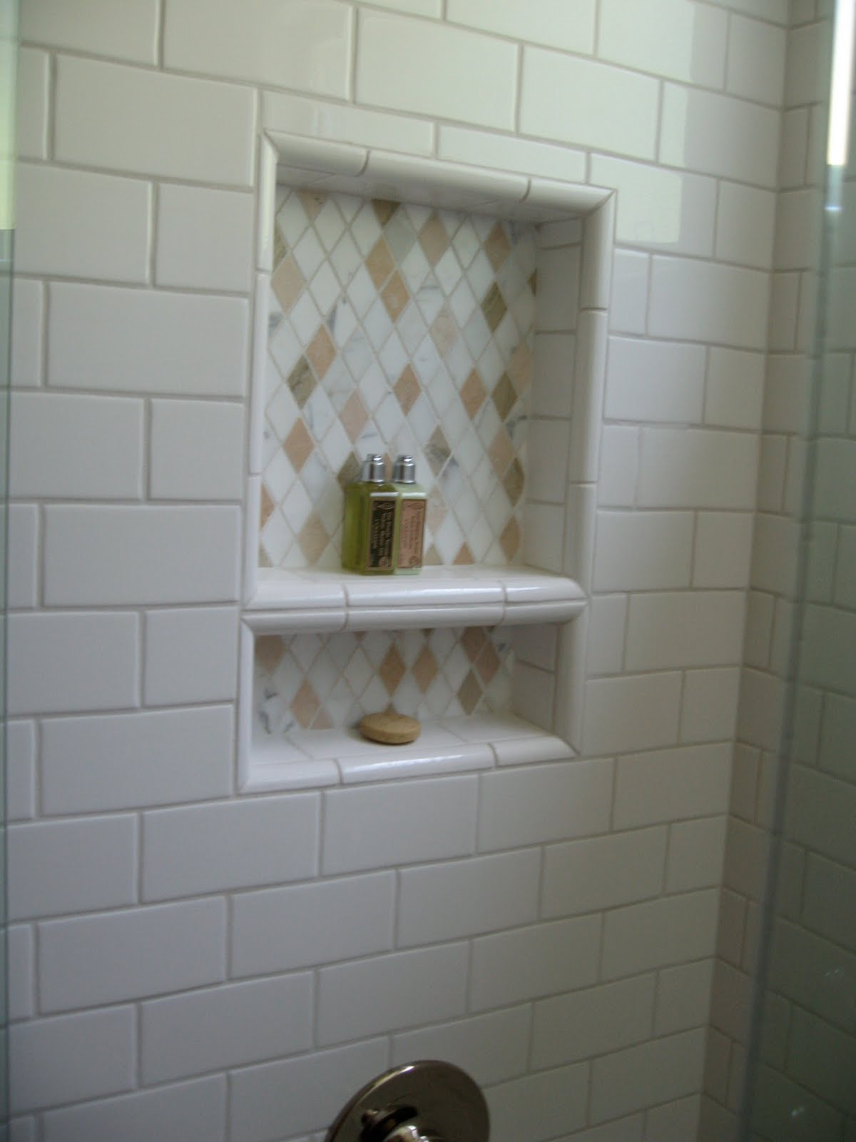 Renovations and remodel secondary bath before and after - Tile shower surround ideas ...