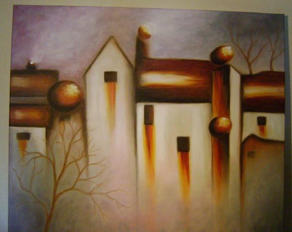 Cuadros Y Pinturas De Domo Awka Abstracto Casas