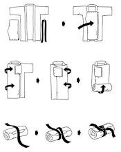 Como dobrar o quimono