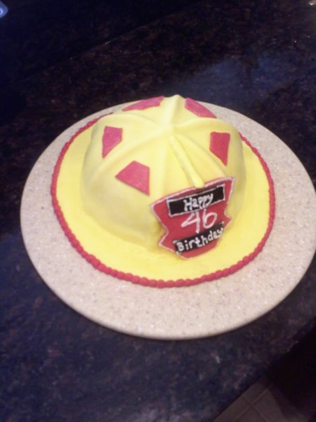 .firefighter birthday cake.
