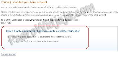 langkah verifikasi paypal terakhir