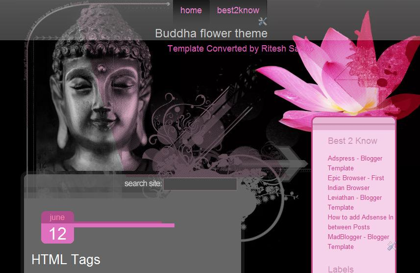 buddha flower blogger template bangladesh tech zone. Black Bedroom Furniture Sets. Home Design Ideas