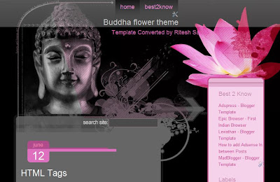 Buddha Flower   Blogger Template
