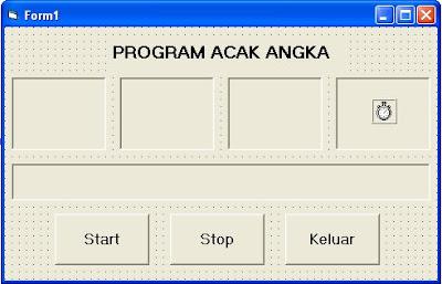 program acak angka dengan vb