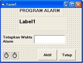 program aplikasi alarm dengan VB 6.0