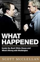 Capa do livro WHAT HAPPENED? que conta os bastidores da guerra Iraque e EUA.