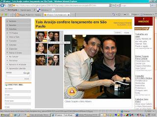 Tais Aráujo, Marina Morena e Cassio Scpin na noite de autógrafos de Beto Ribeiro!