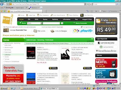 Primeiro lugar de vendas em Administração na Fnac.com!