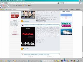 Promoção GANHE UM EXEMPLAR DO PODER SA na Radio Antena 1 Rio!