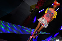 Modelo desfila na Chata Fashion Week. Foto da Globo.com