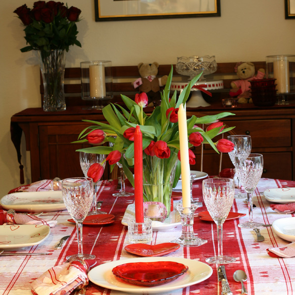Lynnu0027s Valentine Table Setting & Have Recipes-Will Cook: Lynnu0027s Valentine Table Setting