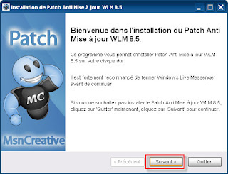 Patch anti-atualização do Windows Live Messenger 8.5