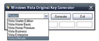 Gerador de Keys Válidas para ativar seu Windows Vista