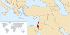 Situación geográfica de Israel