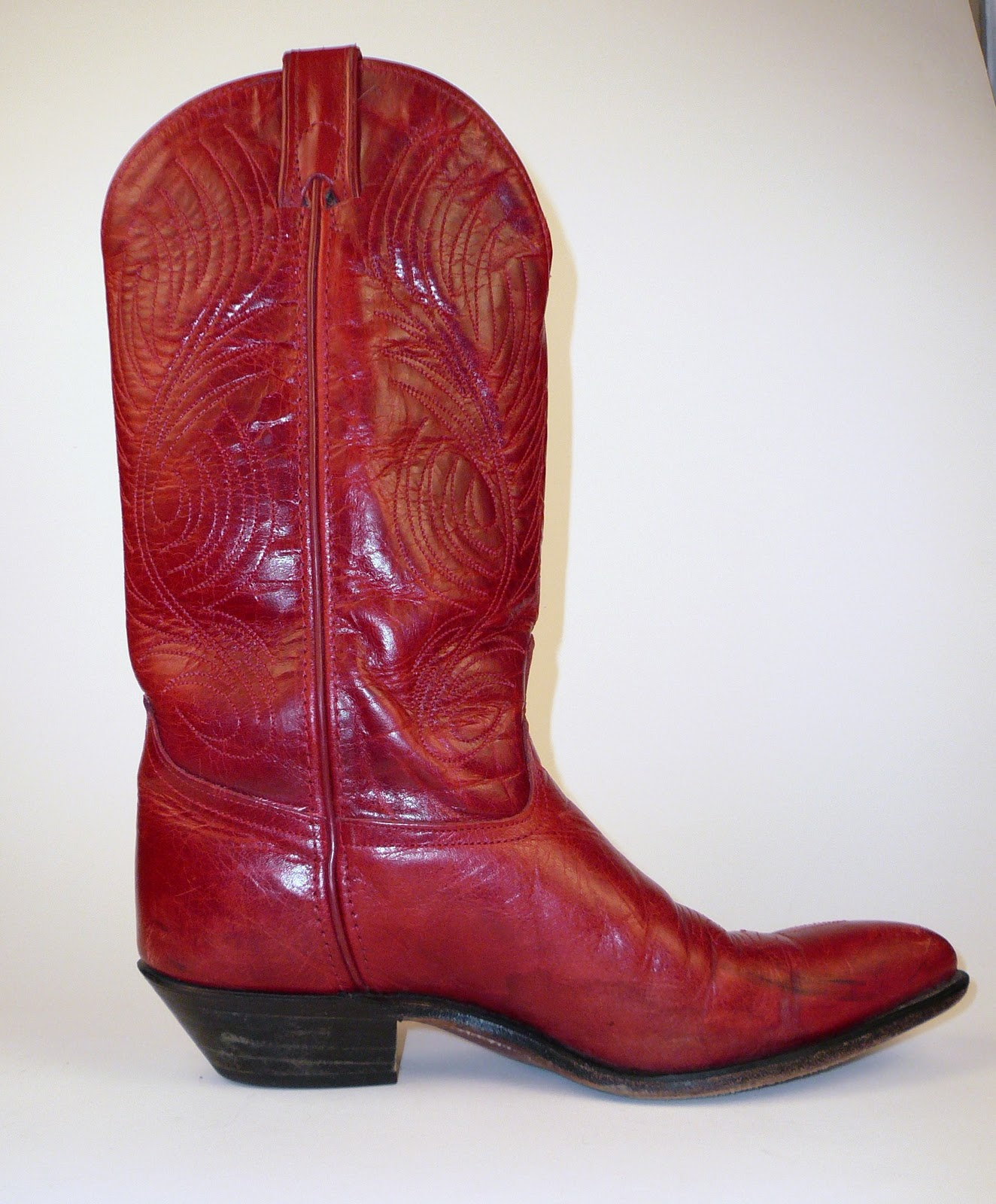 Original Cowboy Boots Womens 7 M B Red Western By Vintagecowboyboots