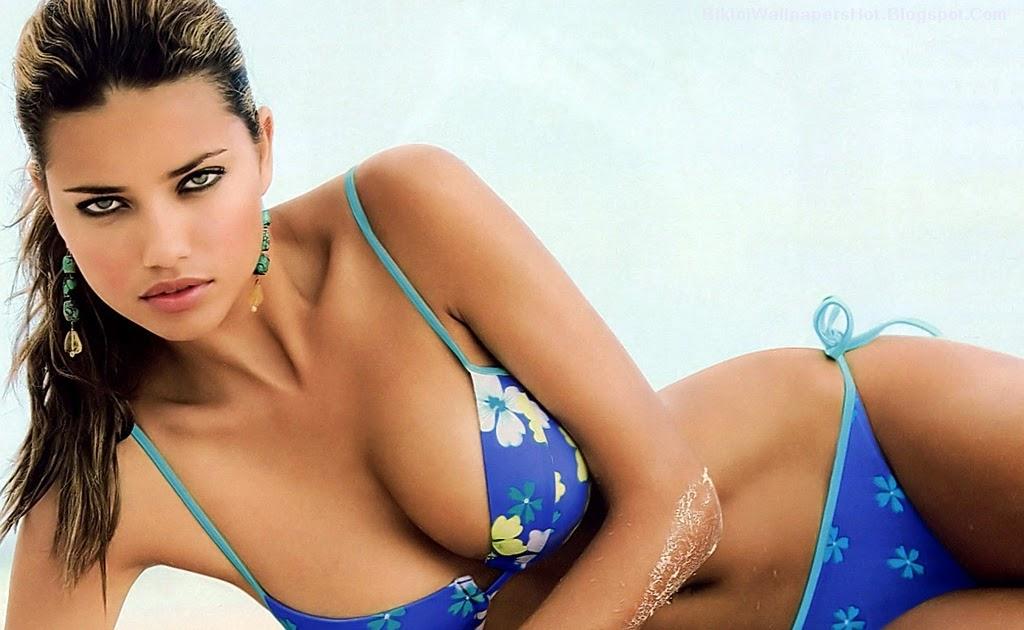 Bikini Wallpapers: Bikini Wallpapers : Adriana Lima Blue Bikini