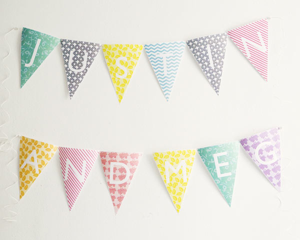 Free Printable Alphabet Bunting Banner