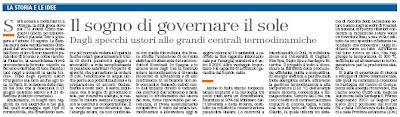 governare il sole