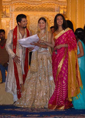 Rambha marriage reception stills / photos