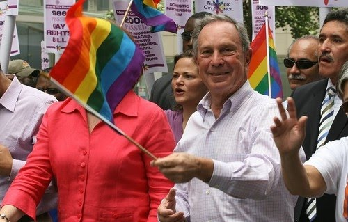 Mayor Michael Bloomberg, who always marches with us during Gay Pride, ...