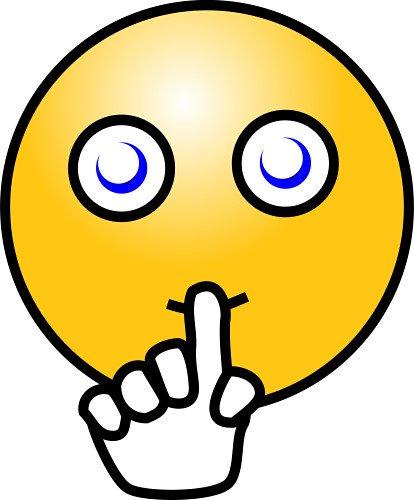 Quiet Face Clip Art Shhh Smiley Fac...