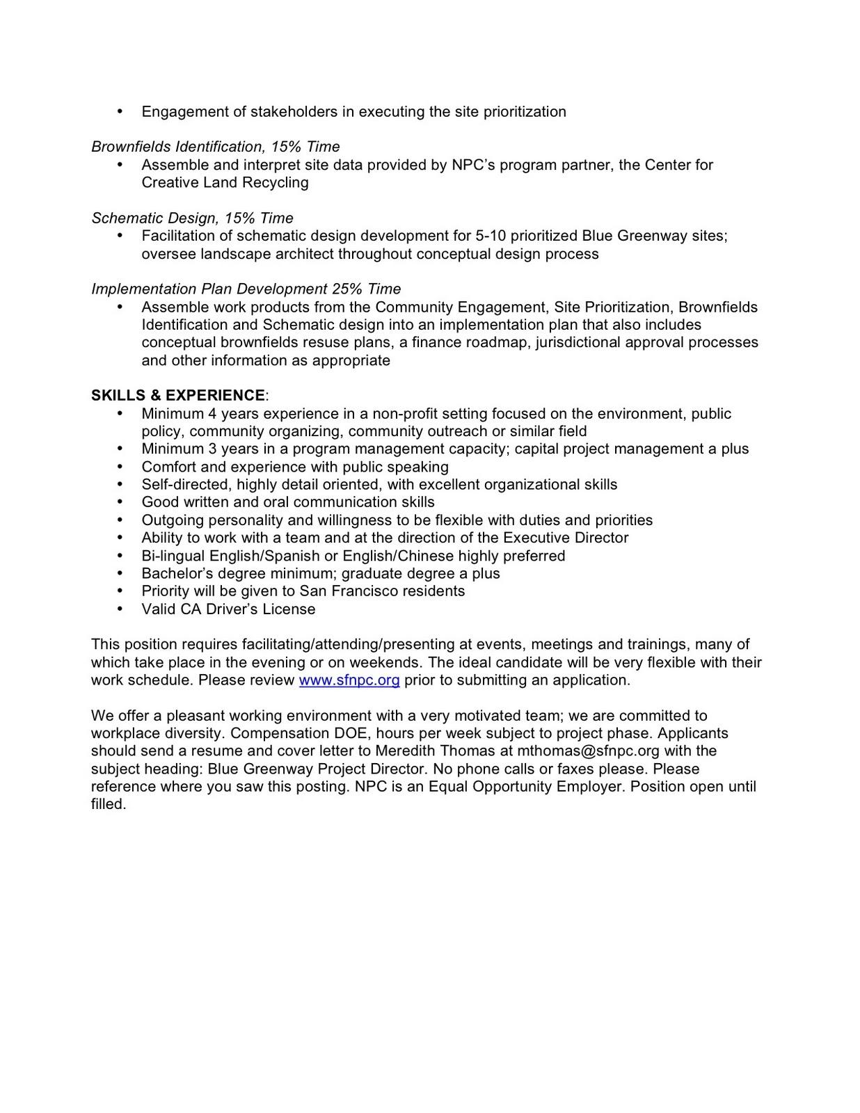 D10 Watch December 2010 – New Job Announcement Letter