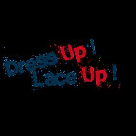 lace up logo  Dress Up! Lace Up!