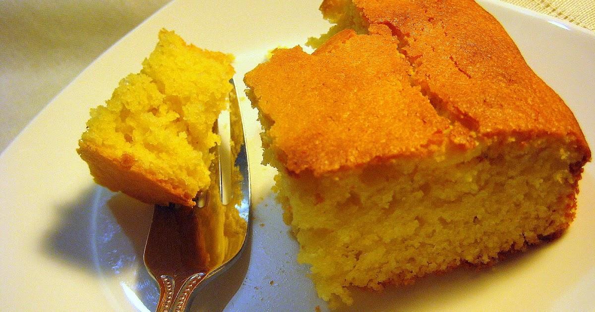 Food Tastes Yummy: EASY ORANGE CORNMEAL CAKE
