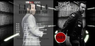 Tarkan's venue dates for December 2008 © Redwhite Events