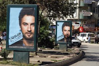 Billboards erected to promote Tarkan's 7 June show in Elazig