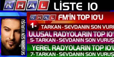 Tarkan in the Turkish nation's most popular list
