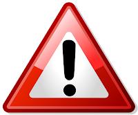 Virus warning logo