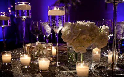 Purple Wedding Reception Decorations on Creative Weddings And Occasions Blog  Candle At Your Wedding Reception