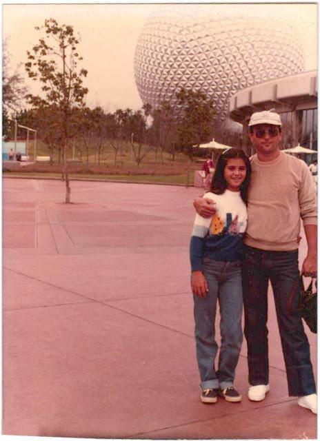 Eu e meu pai, Samuel, no Epcot em 1984