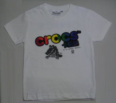 tshirt crocs white