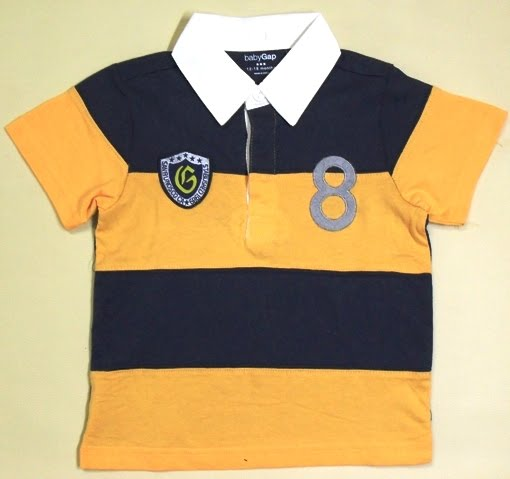 BABY GAP YELLOW STRIPE SHIRT