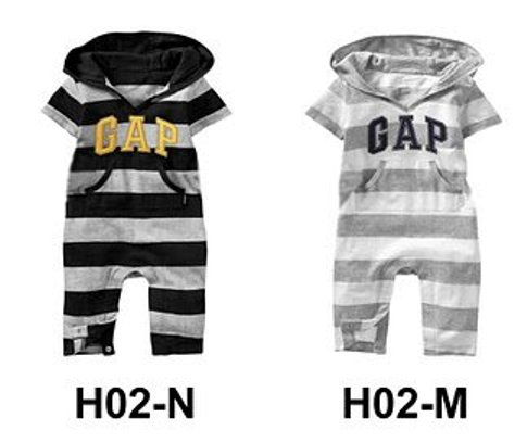 BABY GAP STRIPE HOODED JUMPER