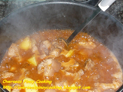 Pork Caldereta, Kalderetang Baboy - Cooking Procedure
