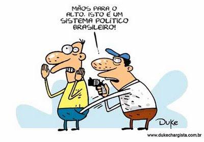 Resultado de imagem para corrupção à brasileira charges
