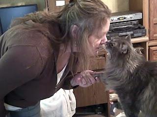 kitty kisses, kitty hand shake