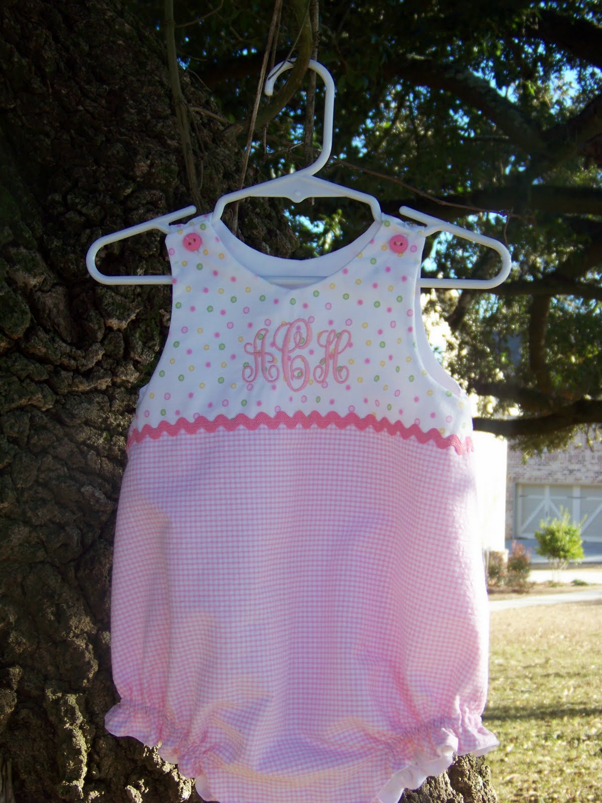 Appliqued Monogrammed and Custom Made Children s Clothing