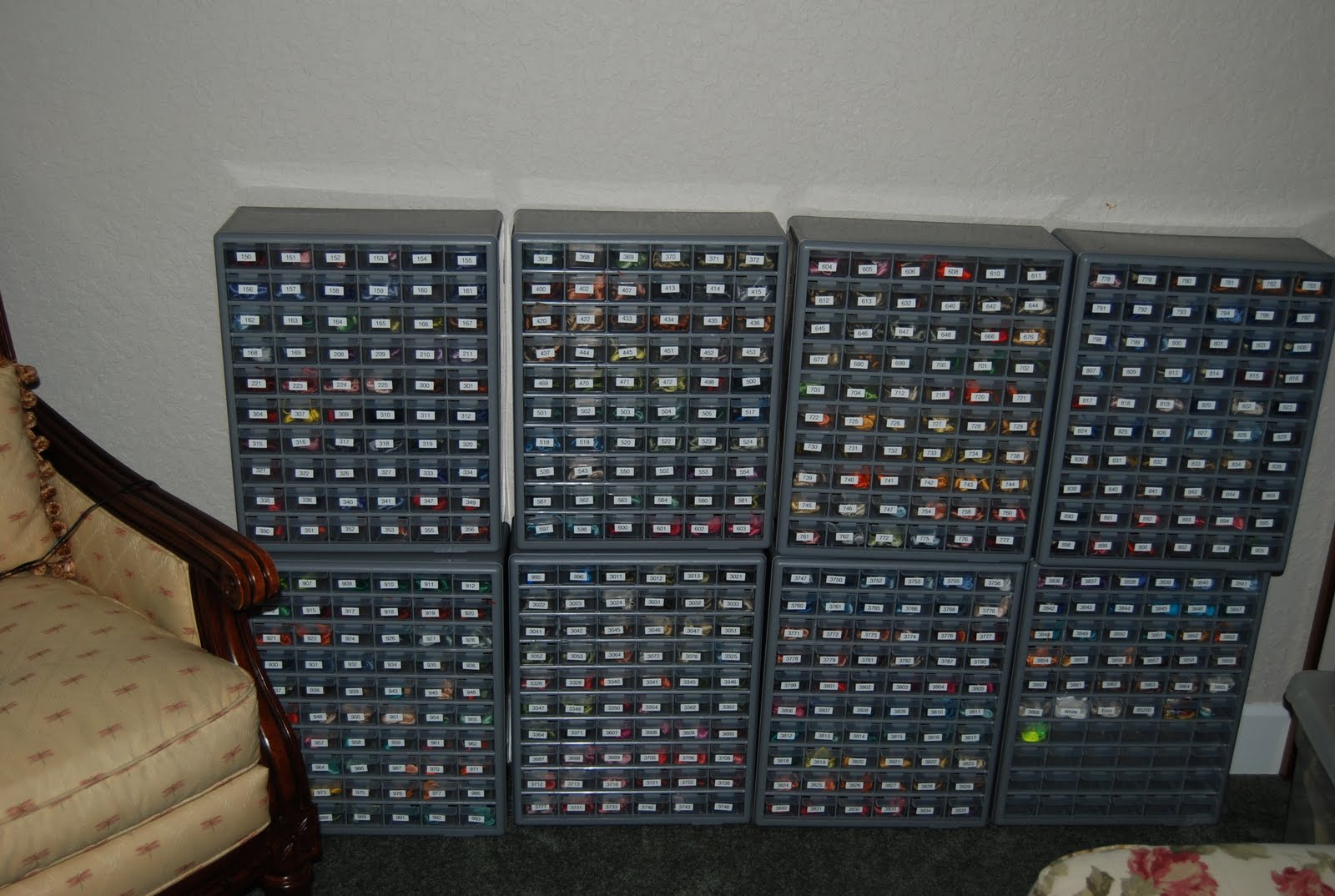 Dmc Thread Cabinet Cross Stitch And Cupcakes Organization