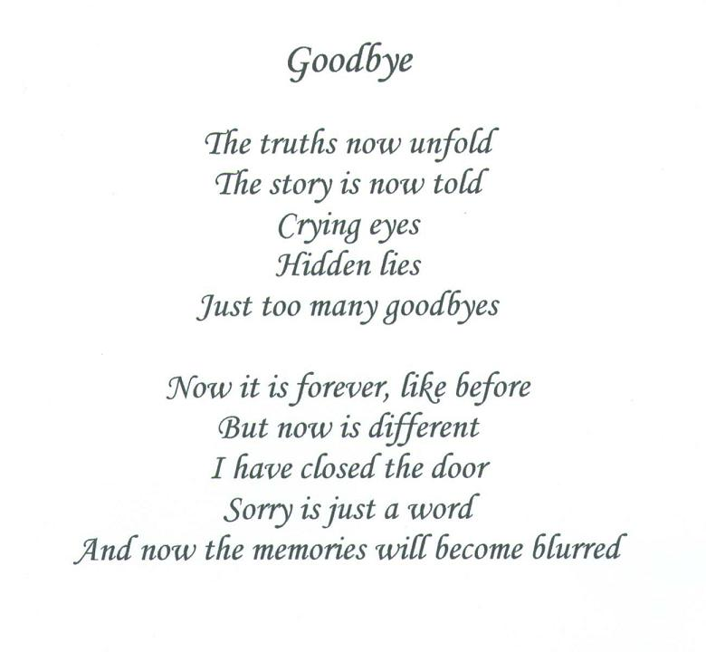 Saying Goodbye Poems