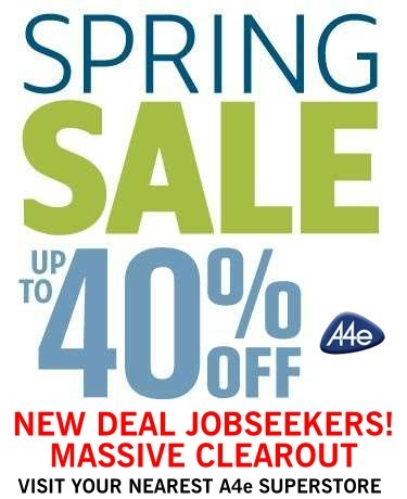 A4e New Deal Jobseeker Spring Sale