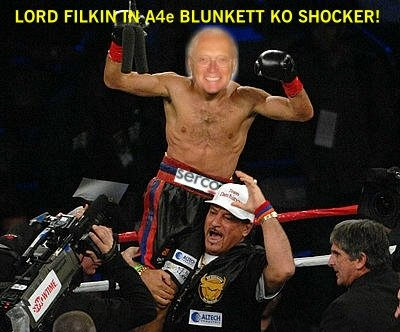 Lord Filkin of Serco KOs A4e Bunkett in Round 1 Shocker