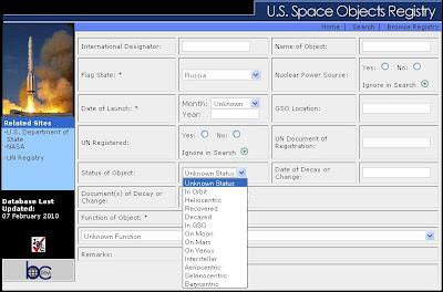 US Space Objects Registry