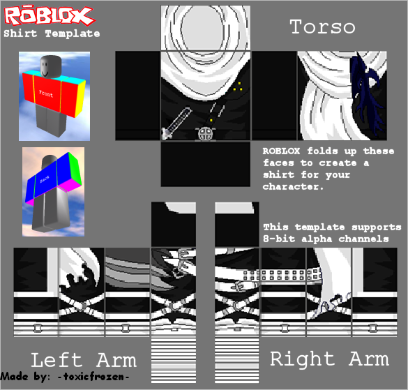 Chobots Cabin: ROBLOX- Free Assassin Cloak of the Ninja\'s Shirt Template